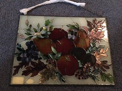 """Stained Glass Window Hanging (Joan Baker Designs) 12.5"""" x 9.5"""""""