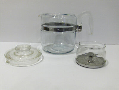 Vintage PYREX Glass Flameware 6 Cup Coffee Pot Percolator MADE IN USA