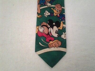 Tie Novelty Cartoon Disney Mickey Mouse and Friends playing American Football
