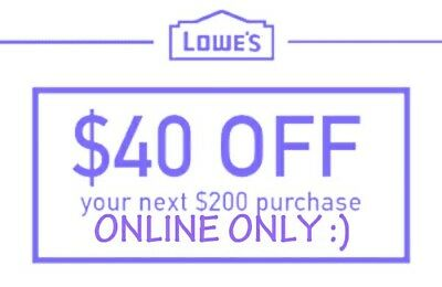 $40OFF$200LowesInstantCoupons FAST DELIVERY!! 1/31/18