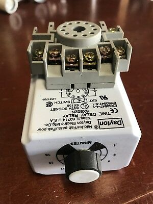 Dayton Time Delay Relay 6X602N With Base