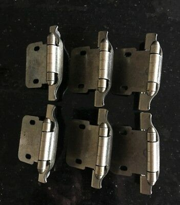 "Set of 6 Hinges Antiique Brass Hinge is 3/4 "" with side 2/34 T by 1 3/4 T"