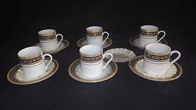Yamasen  collection fine porcelain gold plated  tea cups and saucers
