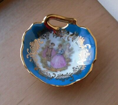 "Limoges La Reine Small Trinket Dish - 2.75"" Diameter - VGC"