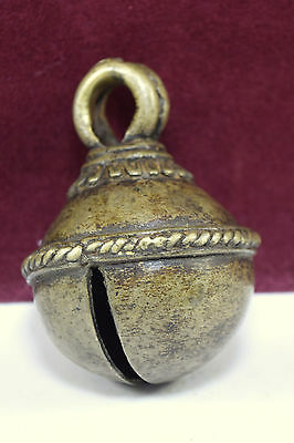 Rare Antique Horse Cattle Bell Beautiful Carved Tribal Animal Ornament. G70-120