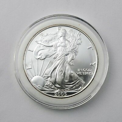 American Silver Eagle 2005 1 oz Coin - (BU) Brilliant Uncirculated with Capsule