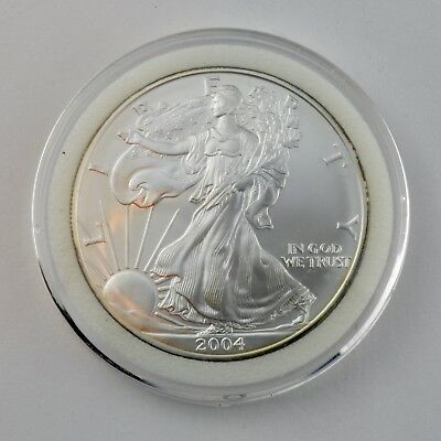 2004 American Silver Eagle 1 oz Coin - (BU) Brilliant Uncirculated with Capsule