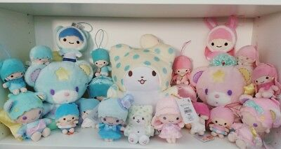 Sanrio Japan Little Twin Stars Puff Poff ETC Plush Toy LOT US Seller