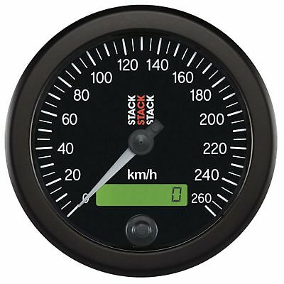 Stack Professional Speedometer ST3802- 0 - 260 Kph km/h Black Dial Face