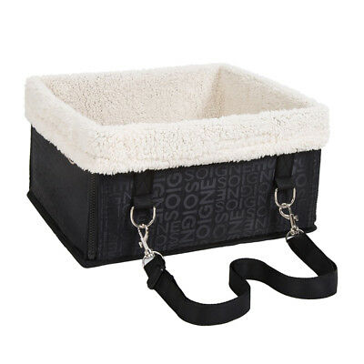 Pet Car Seat Carrier Airline Dog Cat Lookout Booster Seat for Husky Black M