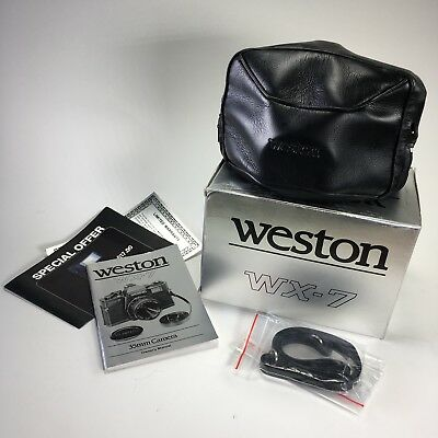 Vintage WESTON WX-7 35MM Film Toy Camera with case, manual and in box