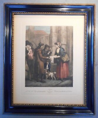 Handsome Antique Pair of English Cries of London Prints 19th Century