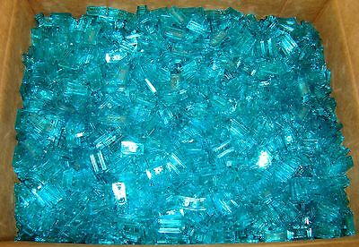 50 NEW LEGO Trans Light Blue 1x2 Smooth Finishing Flat Tiles