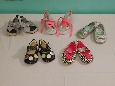 Lot 6O Infant Girls  Shoes Size Up To 3Months