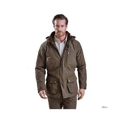 NEW mens XXL barbour linton insulated hooded Jacket olive water proof