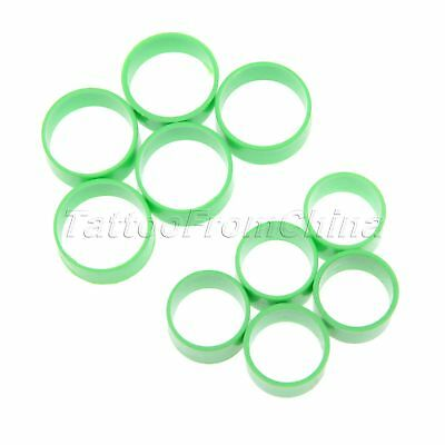 Green Poultry Leg Rings for Birds Hens Ducks Replacement 50 Pcs Small/Big Size