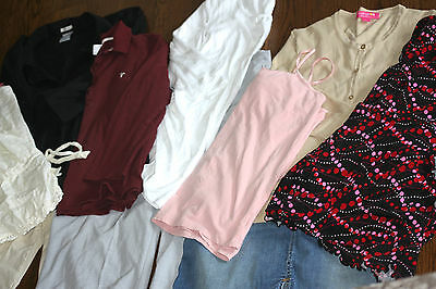 10pc Lot L Motherhood Mimi Liz Lange Maternity Old Navy Clothes Large Tops Pants