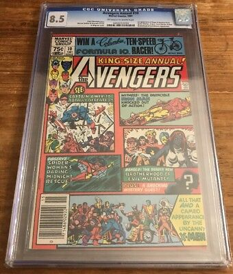 Avengers Annual #10 CGC 8.5 First Rogue And Madelyn Pryor