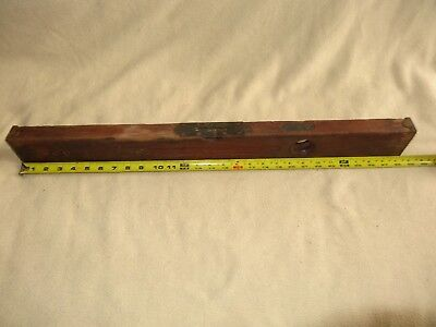 "Vintage Antique Wooden Level 28.25"" Long Solid Wood With Steel Hardware"