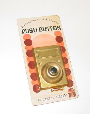 Vintage Trine Push Button Name Place Apartment door bell buzz stamped USA NOS