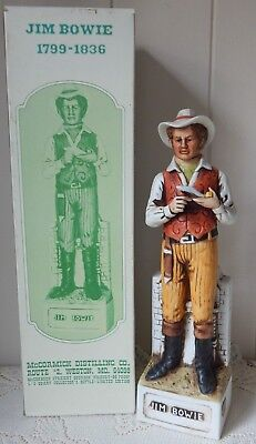 VINTAGE McCORMICK WHISKEY JIM BOWIE DECANTER WITH BOX