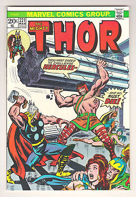 Thor #221 - Marvel (March 1974) - 7.5 Vf- Condition
