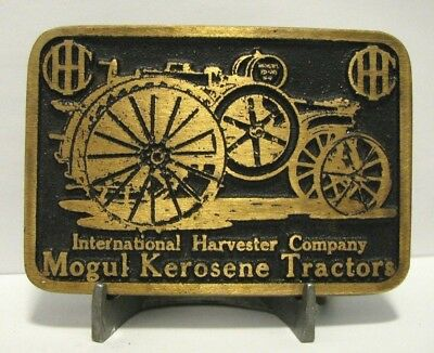 IHC International Harvester Co. MOGUL Kerosene Tractor Brass Belt Buckle