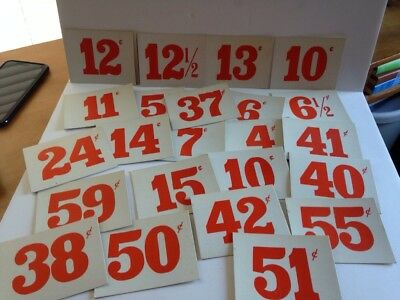 Vintage Country Grocery Store Price Labels 24 Cards