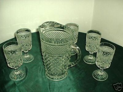 Wexford Iced Tea Set From Anchor Hocking,  Ex. Cond.