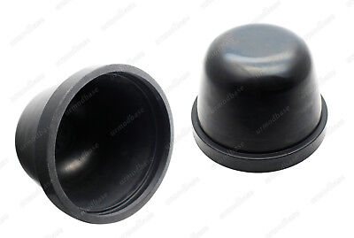 Universal 95mm Rubber Headlight Dust Caps Cover For HID LED Cree H4 H7 HB4 9006