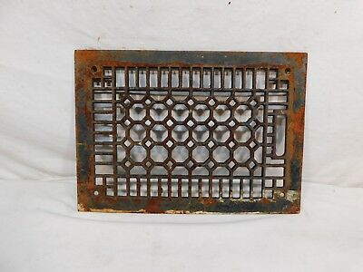 Antique Victorian Cast Iron Heating Vent / Grate - C. 1900 Architectural Salvage