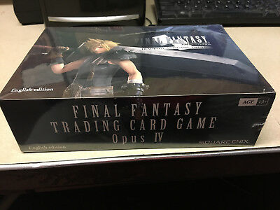 FINAL FANTASY Trading Card Game OPUS 4 IV Booster Box FACTORY SEALED