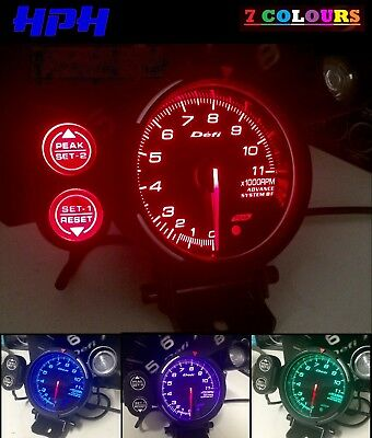 Monster Tacho + Shift Light *Universal* 7 Colour Tachometer Skyline WRX RPM 4WD*