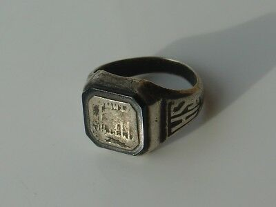 Vtg Art Deco Era 1929 Sterling Silver High School Class Ring Fort Ft Myers Fl
