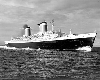 Ss United States Luxury Passenger Liner - 8X10 Photo (Fb-808)