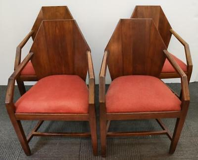 After Frank Lloyd Wright Hexagon-Back Armchairs, 4 Lot 87