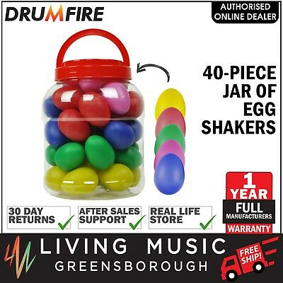 NEW Drumfire 40 Piece Jar of Egg Shakers Kids Percussion Toy Music Education