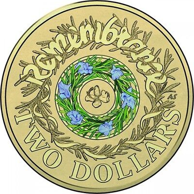 2017 Australian $2 Coin - Remembrance - ANZAC - Uncirculated Coloured Coin !!!
