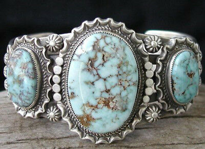 925 Sterling Silver Turquoise Ring Anniversary Wedding Women Men Vintage Jewelry
