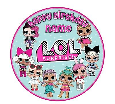 EDIBLE LOL Dolls Cake Topper Birthday Party Wafer Paper 19cm (uncut)