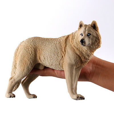 1:6 Siberian White Steppe Wolf Solid PVC Finished Model Figure Figurine