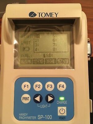 Tomey SP-100 Handy Pachymeter Ultrasound Pachymetry Examinations No Probe