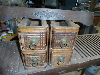 SEWING MACHINE DRAWERS for antique Singer, 4 drawers,cabinet parts,center drawer