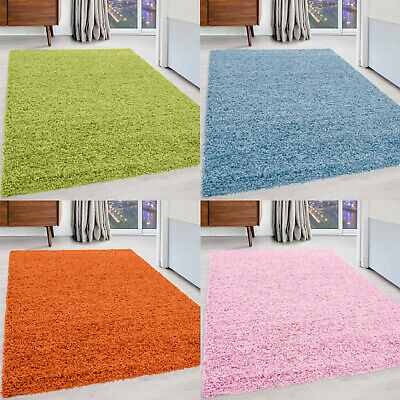 Small - Extra Large Size Shaggy Rug Thick 5 cm Pile Plain Modern Non-Shed Soft