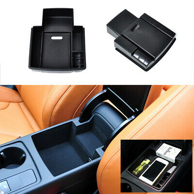Console Armrest Storage Box Secondary Container Holder For 2013 2014 Audi A4 A5