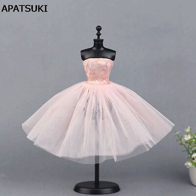 "Pink Ballet Dress For 11.5"" Doll Evening Dresses Clothes For 1/6 doll accessory"