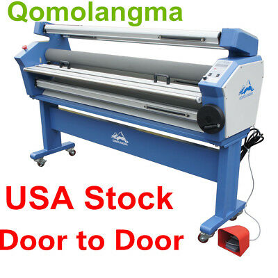 """110V 55"""" Full-auto Low Temp Heat Assisted Wide Format Cold Laminator + Stand"""