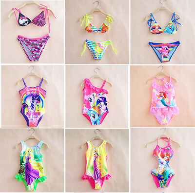 Toddler Kids Girls Mermaid Scale Swimsuit Swimwear One-Piece Swimming Costume