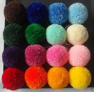 POM POMS Wool Balls Any size Any colour Professional Wedding Pompoms