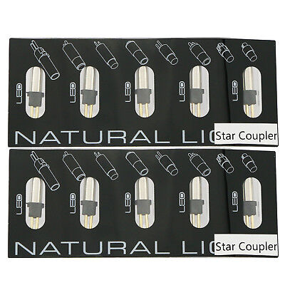 10 Pcs Dental Replacement LED Bulb For Star Coupler LED Quick Coupling 6 Hole